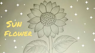 How to draw a Sunflower || Easy step by step