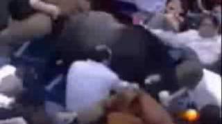 Bullfight - Bull Attacks Crowd