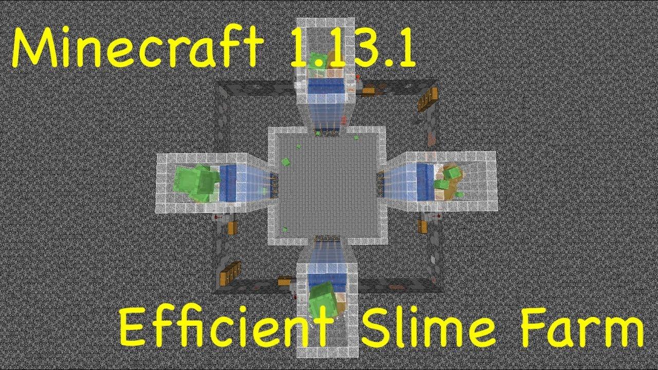 Minecraft 1131 Efficient Slime Farm 25k Slimeballshr Per Chunk