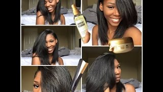 How to straighten your natural hair ! ❤️