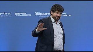 """López Miras cree que la polémica con el 'pin parental' es una """"cortina de humo"""""""
