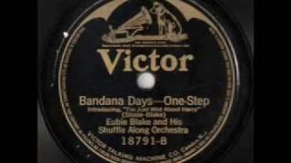 """Eubie Blake and his """"Shuffle Along"""" Orchestra - Bandana Days (1921)"""