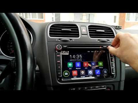 "Установка головного устройства на VW Golf 6 с Aliexpress.  ISUDAR 8"", Android 8,1."