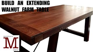 Build an Extending Walnut Farm Style Table 005