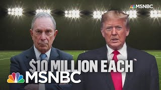 Bloomberg, Trump Kick Off Super Bowl With Competing Commercials | MSNBC