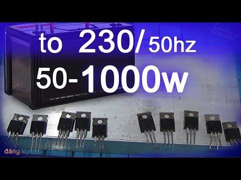 Circuit diagram 1000 inverter 50Hz 12v to 220v Inverter - YouTube