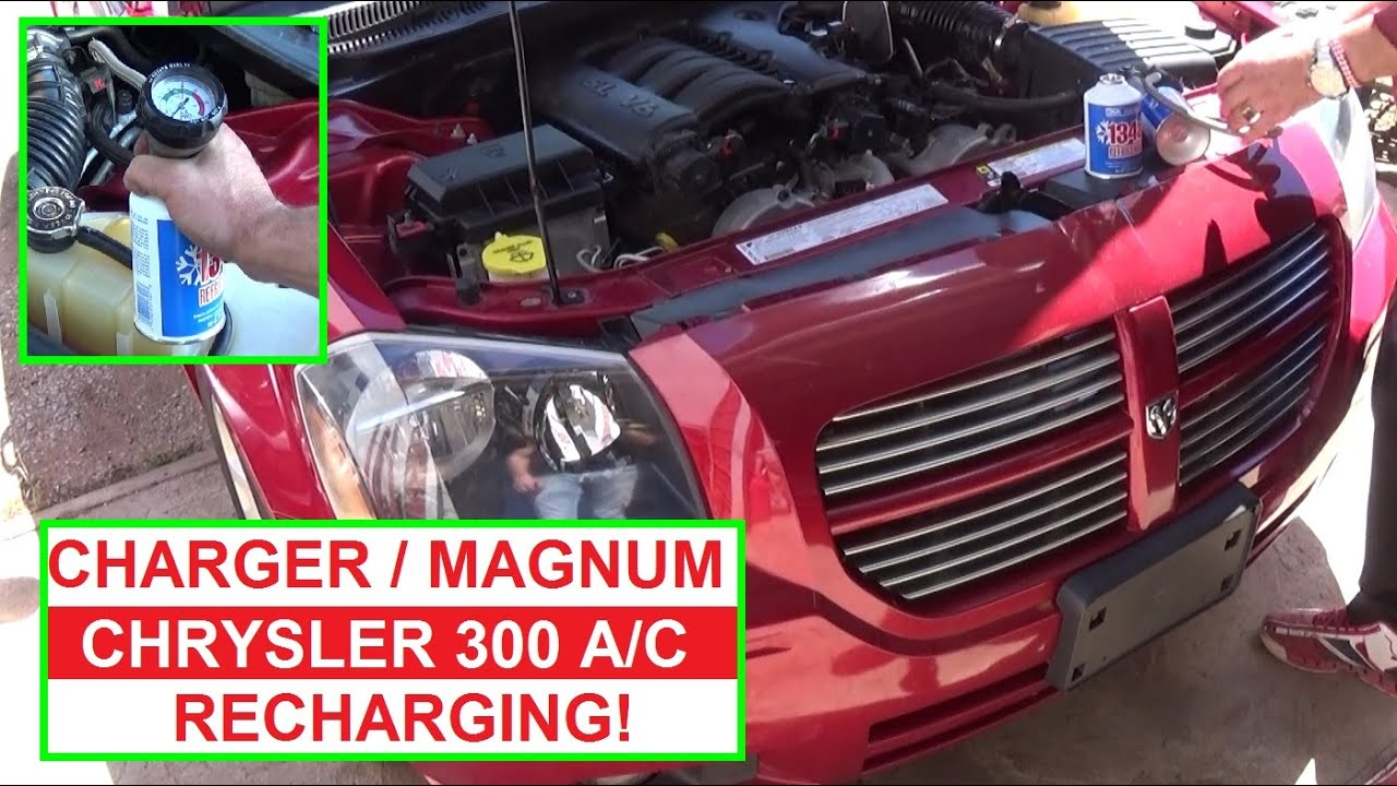 How To Recharge The Air Conditioner On Dodge Magnum Charger Chrysler 300 A C SYSTEM Refill