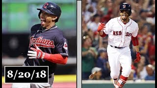 Cleveland Indians vs Boston Red Sox Highlights || August 20, 2018