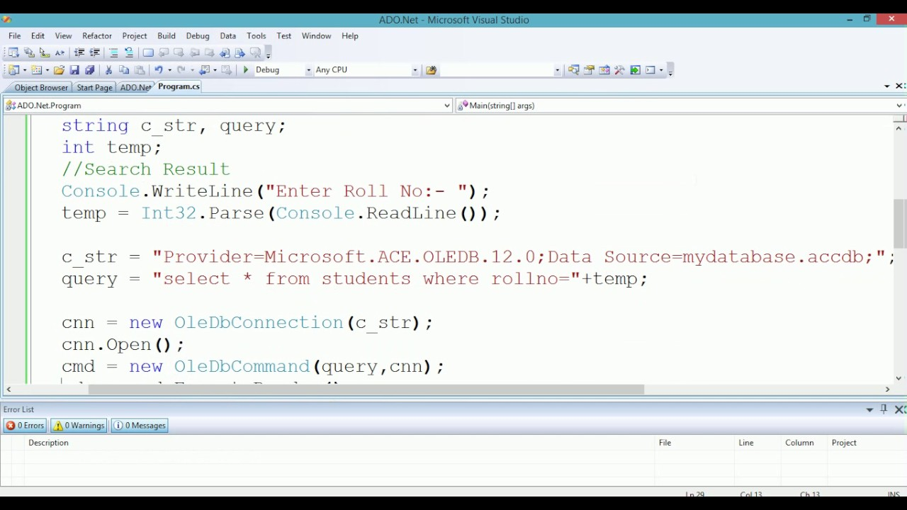 Executereader example in asp. Net using c#,vb. Net asp. Net,c#. Net.