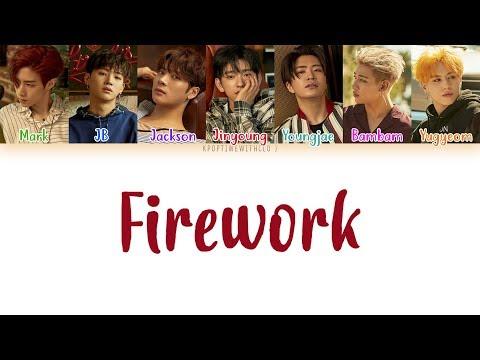 GOT7  Firework LYRICS COLOR CODED HANROMENG