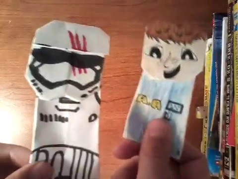 Image result for origami star wars puppets | Easy origami star ... | 360x480