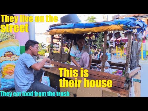 Travel to the Philippines and Meet the Homeless Filipino Family Who Sleep in a Cart. The Homeless