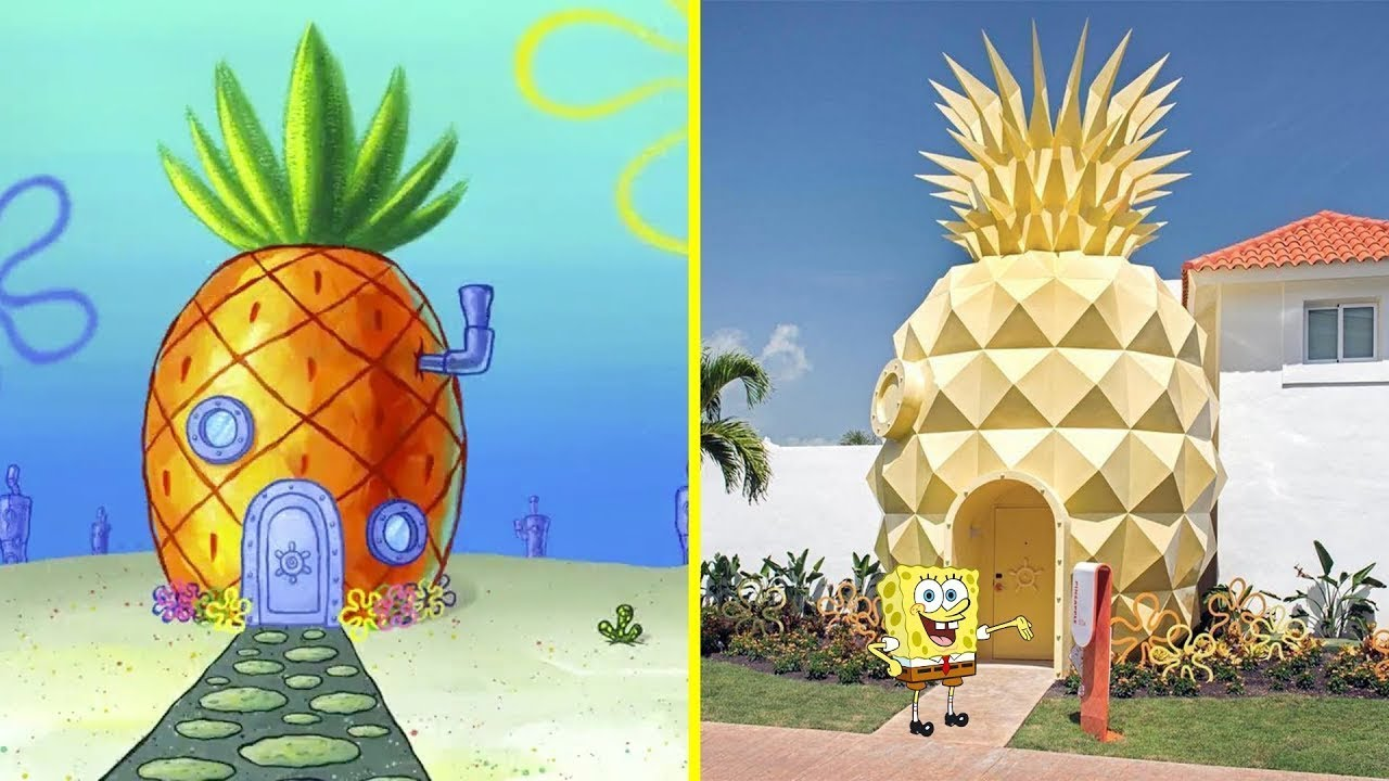 Spongebob Houses and Foods In Real Life