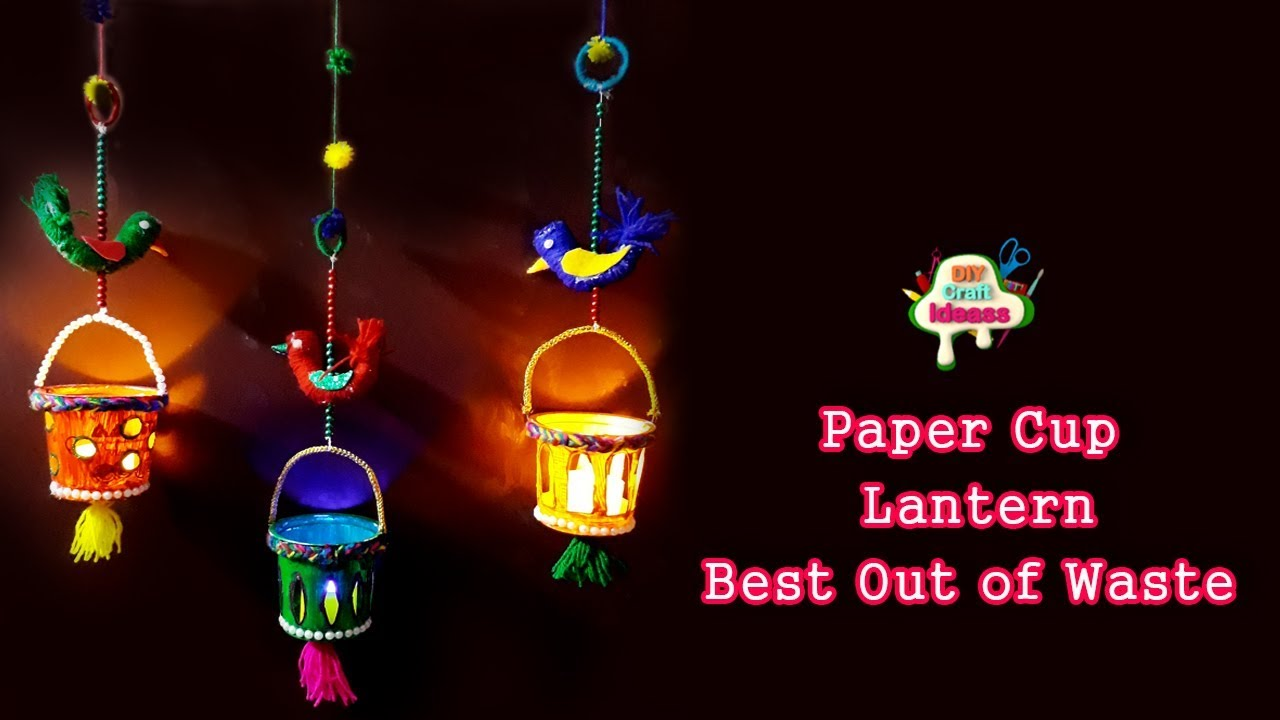 How To Make Lantern Diy Easy Craft Making Using Paper Cups