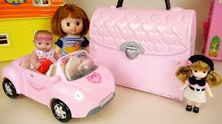 Video Baby doll house bag and car toys and Surprise eggs play download MP3, 3GP, MP4, WEBM, AVI, FLV Desember 2017