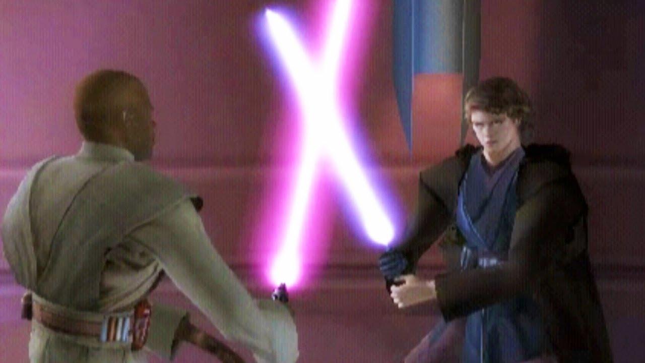 Anakin Skywalker Vs Mace Windu Star Wars Episode Iii Revenge Of The Sith Youtube