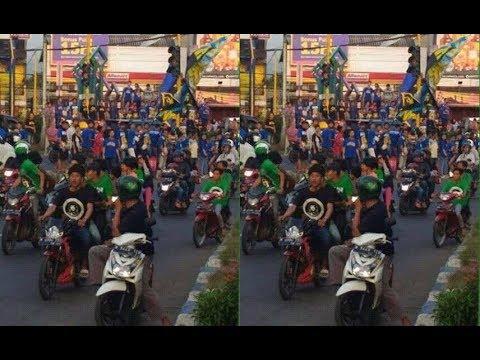 Bonek Sakera Bertemu Arema di Perbatasan Malang HD