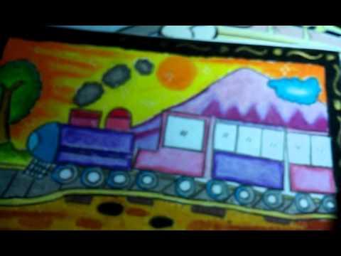 Gambar Ran Ku Kereta Api Gambar Dan Mewarnai Youtube