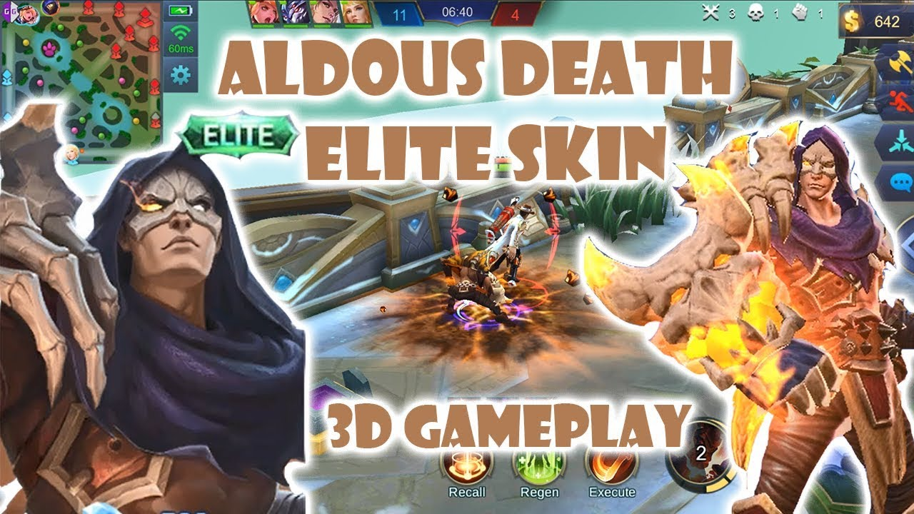 Aldous Death 【ELITE】 Skin 3D Gameplay (ONE PUNCH MAN FIERY SKIN