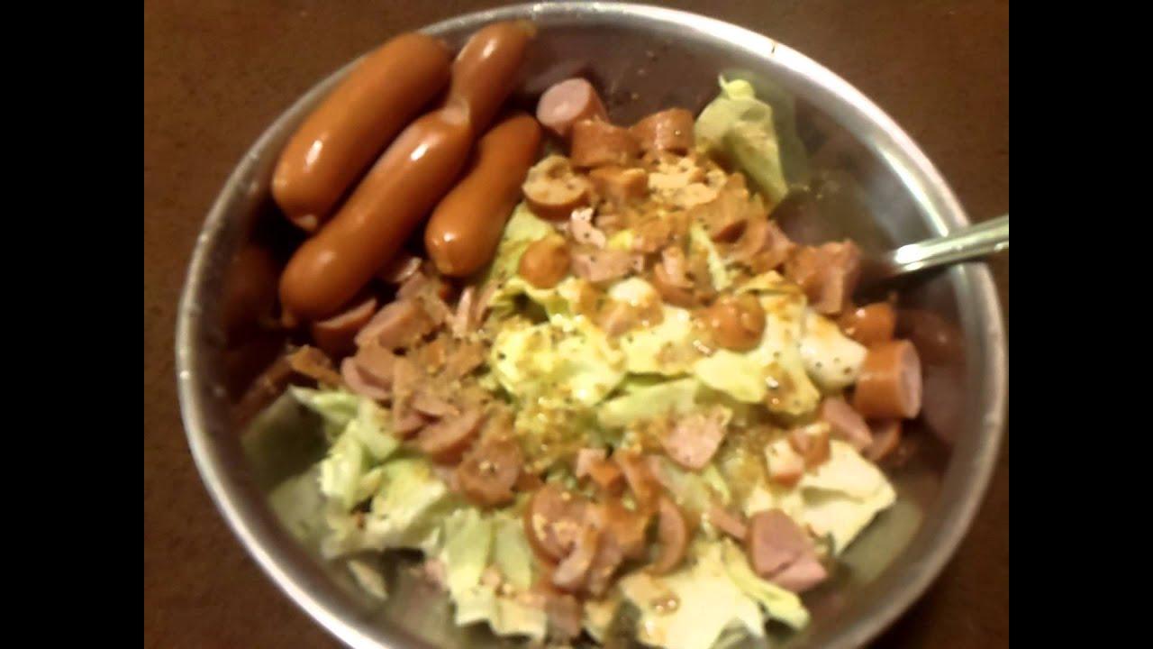 ダイエット食 減量食 ウインナーサラダ^^ - YouTube