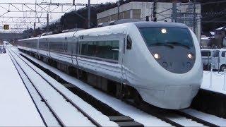 積雪あり!681系特急「しらさぎ」名古屋行き 北陸本線木ノ本駅通過