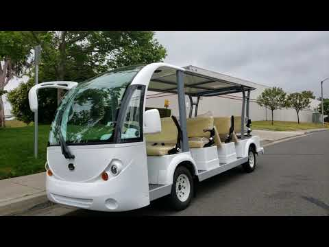 Evolution Carrier 11 Electric People Mover / Shuttle Bus System For Hotels, Resorts And Parking Lots