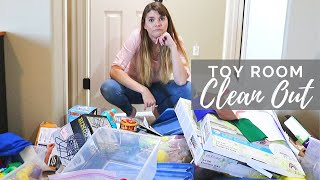 Toy Room CLEAN OUT & ORGANIZATION // Cleaning Motivation // Cleaning Mom