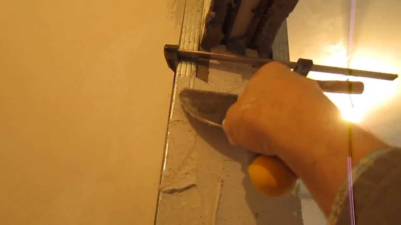 Штукатурка дверных откосов гипсовой шпатлевкой видео