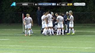 UNH Men's Soccer vs  UMBC HIGHLIGHTS 9.30.16
