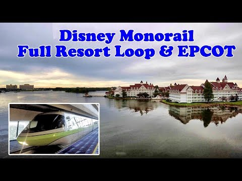 Riding the Magic Kingdom and EPCOT Monorail - July 2017