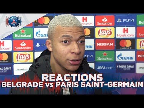 REACTIONS : BELGRADE vs PARIS SAINT-GERMAIN