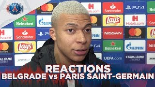 REACTIONS : BELGRADE vs PARIS SAINT-GERMAIN