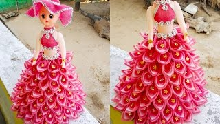 #dolldesign DOLL/ how to make doll/ beautiful doll/ design doll dress DIY! NEW Design