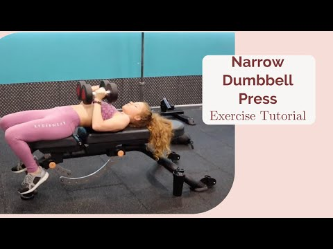 Narrow Dumbbell Press - exercise tutorial