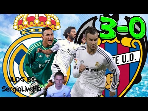 REAL MADRID 3-0 LEVANTE | KEYLOR NAVAS MARCELO Y JESÉ ONFIRE | VLOG SergioLiveHD