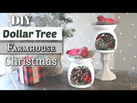 DIY Dollar Tree Farmhouse Christmas Decor | Dollar Tree Christmas 2018 | Krafts by Katelyn