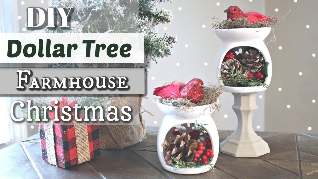 Diy Dollar Tree Farmhouse Christmas Decor Dollar Tree Christmas 2018 Krafts By Katelyn
