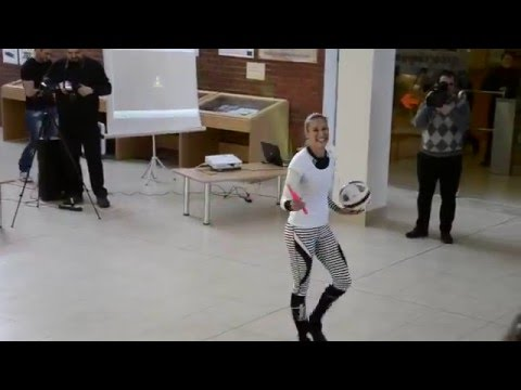 Jump Rope Girl with ball New Video World's Best Jump Roper!!! Adrienn Banhegyi  With ball