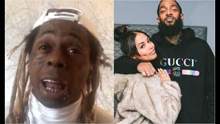 """Lil Wayne Remembers Day Found Out Nipsey Hussle Died """"My Son Became The Man Of The House"""""""