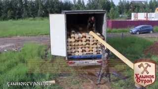 Строительство деревянной бани из оцилиндрованного бревна, видео-отчет - Хлыновстрой(Строительство деревянной бани - это сложный и ответственный процесс. Данная баня из оцилиндровки была..., 2013-07-14T19:13:19.000Z)