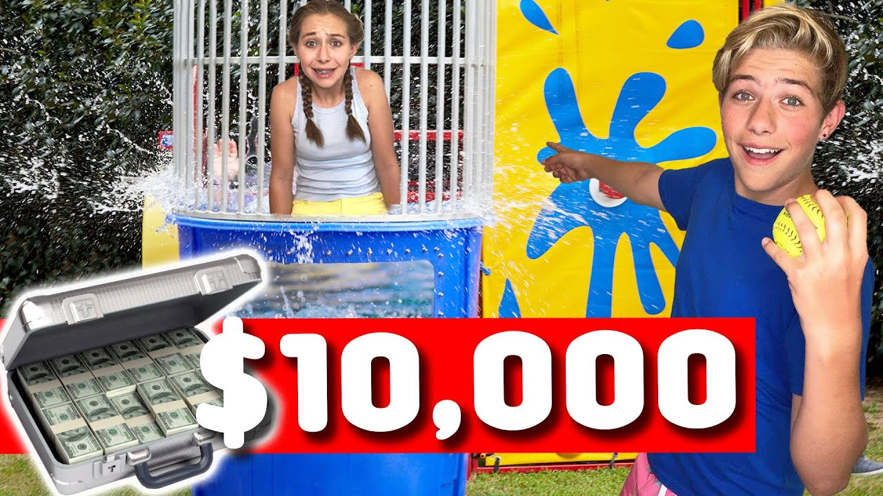 LAST TO GET DUNKED WINS $10,000!! *FUN CHALLENGE* 💰😩 | Walker Bryant
