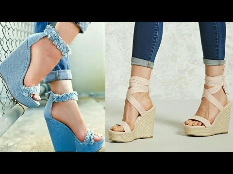 f8152a863e25 Latest wedge Sandals Collection 2018