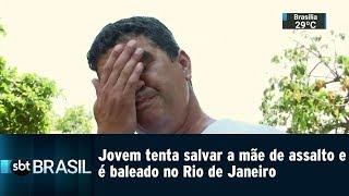Download Video Jovem tenta salvar a mãe de assalto e é baleado no Rio de Janeiro | SBT Brasil (16/01/19) MP3 3GP MP4