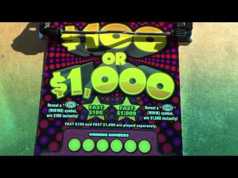 $100 or $1000 new tix Pa lottery