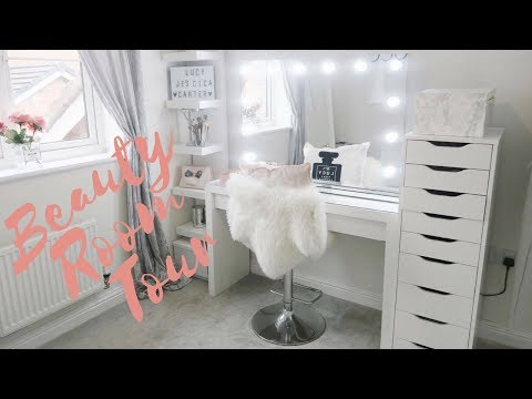 BEAUTY ROOM / MAKE UP ROOM TOUR | Lucy Jessica Carter
