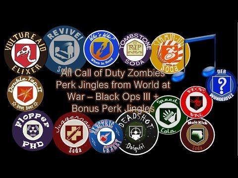 All Zombies Perk Jingles from World at War - Black Ops III + Bonus Jingles