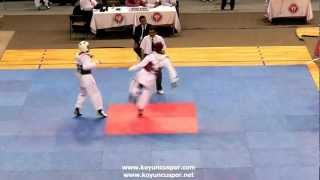 58kg Emre Yurtseven - Nazim Tanici (Knock Out) (2012 Turkish Taekwondo Championships Under -21)