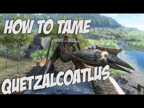 HOW TO TAME QUETZALCOATLUS SOLO TUTORIAL in Ark Survival Evolved - Scorpion & Argentavis Combo