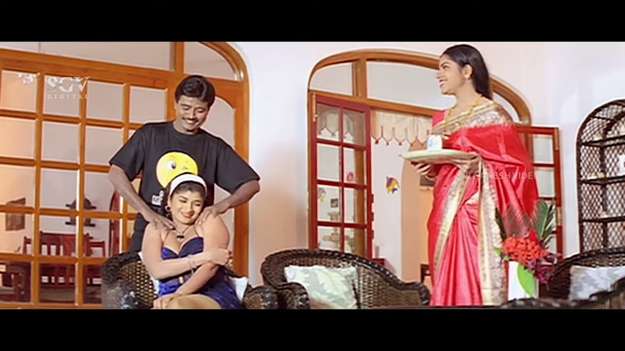 ಹೆಂಡತಿ ಎದುರು ಬೇರೆ ಹುಡುಗಿಗೆ ಮಸಾಜ್ ಮಾಡುತ್ತಿರುವ ಗಂಡ | ಕಾಮಿಡಿ | K Shivaram and Archana Comedy Scene