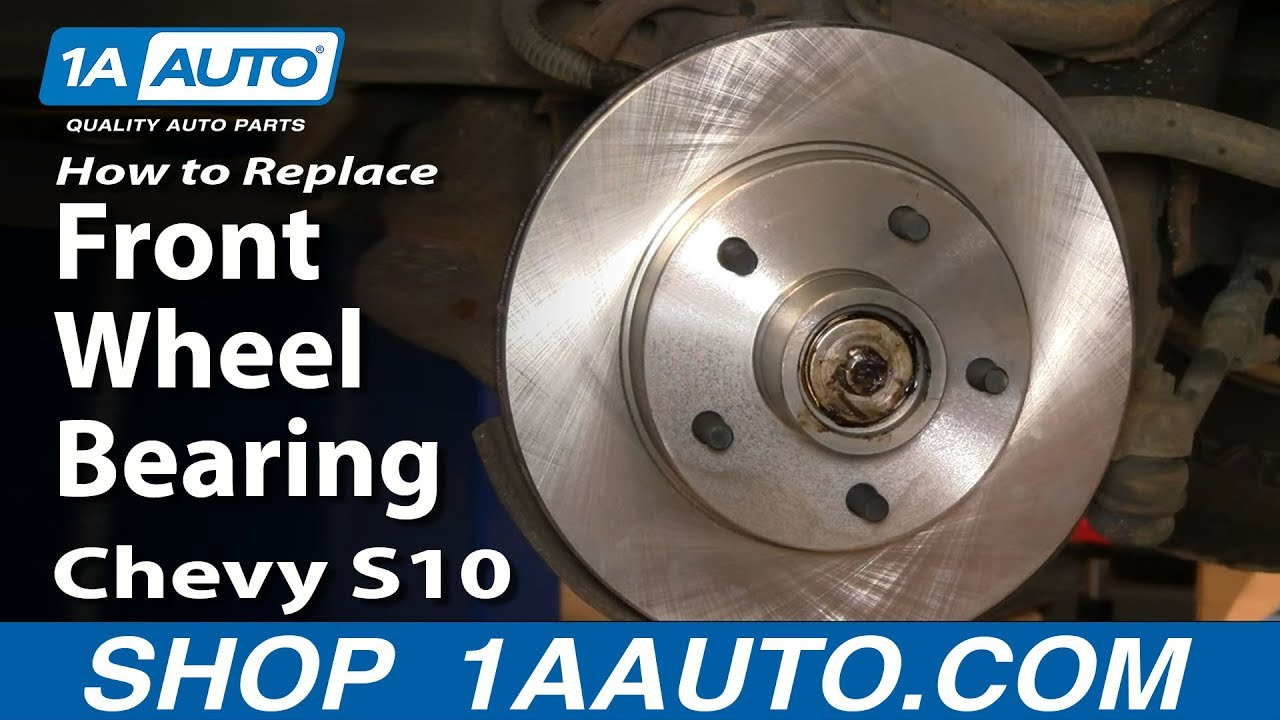 hight resolution of how to install replace front wheel bearing chevy s 10 gmc s 15 2wd 94 03 1aauto com youtube